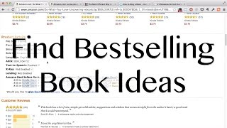How to Find Bestselling Book Ideas