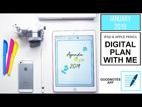 PLAN WITH ME January 2019 |  IPAD DIGITAL PLANNER (Step-By-Step Tutorial) | GOODNOTES App
