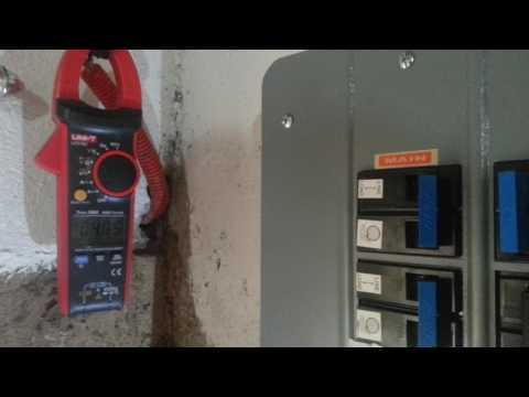 Solar Panel Grid Tie installation testing