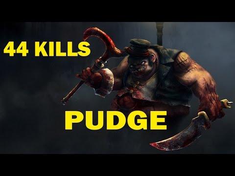 видео: dota 2 pudge (Пудж Бог Богов) Нестандартная сборка letsplay. 44 kills. rapire.