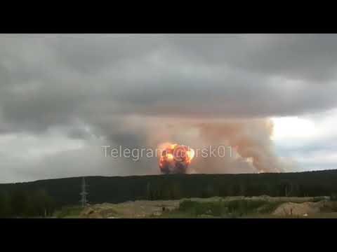 Мощный взрыв на складе с боеприпасами, Ачинский район Красноярского края