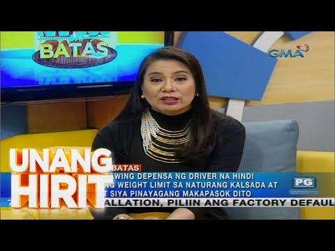 Kapuso sa Batas: Pananagutan ng motoristang hindi sumunod sa weight limit ng isang service road
