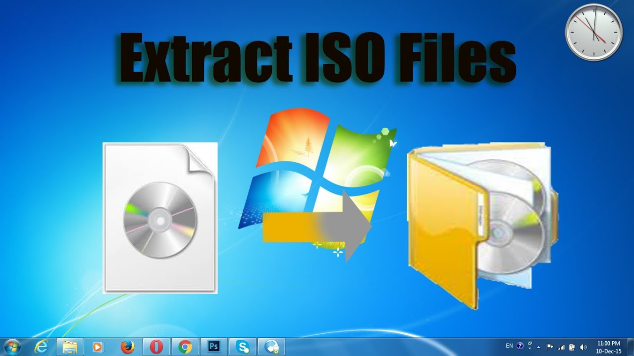 How to extract iso files