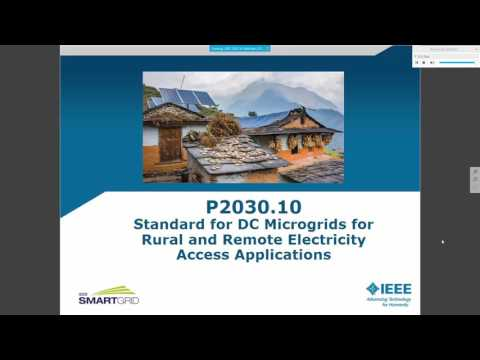 IEEE P2030.10 Standard for DC Microgrids for Rural and Remote Electricity Access Applications