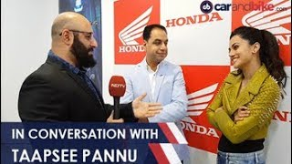 Auto Expo 2018 - In Conversation with Taapsee Pannu about Electric Vehicles