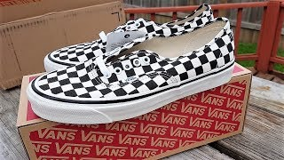 "Vans Anaheim Factory Authentic 44 DX ""Black Checkerboard"" Review!!!"