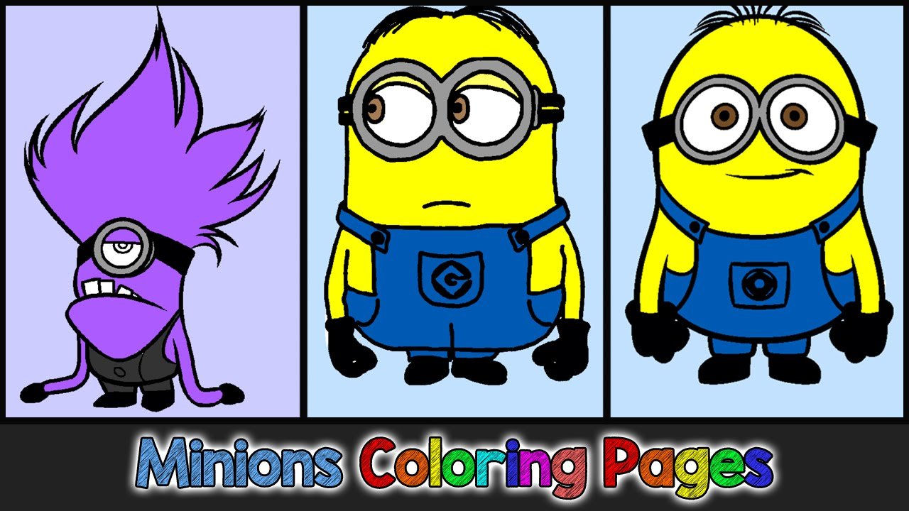On online coloring minion - Minions Coloring Pages For Kids Minions Coloring Games Minions Coloring Book Part 01 Youtube
