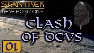 Star Trek: New Horizons: Clash of the Devs - Stellaris MP Game #01 - Vaadwaur (My Point of View)