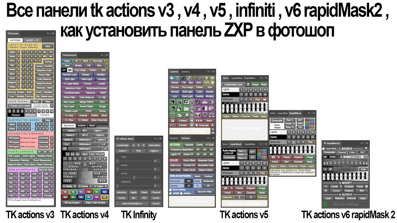Action панель в фотошопе