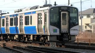 HB-E210系×2快速仙台ゆき石巻駅到着