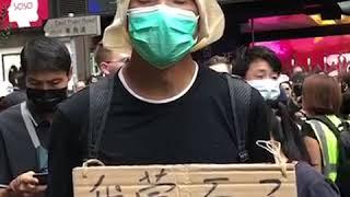 10月5日,香港民众在铜锣湾聚集抗议