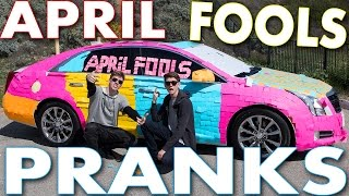 The 5 BEST PRANKS to do on April Fools Day! Can we get 25000 THUMBS UP??? WIN A iPhone 6S, GoPros & MORE!! Click HERE: http://bit.ly/1k8z6Ru New ...