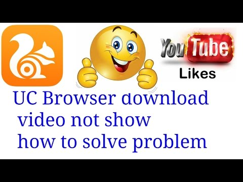 UC Browser download videos not showing mobile gallery how to solve problem