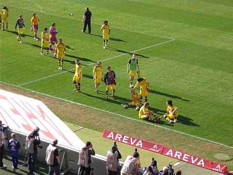 1.FC Nürnberg - Borussia Dortmund Mannschaft kommt zu uns fans, 24.04.2010