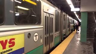 Inbound MBTA Greenline Train At Kenmore