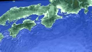 宝永地震津波のシミュレーション