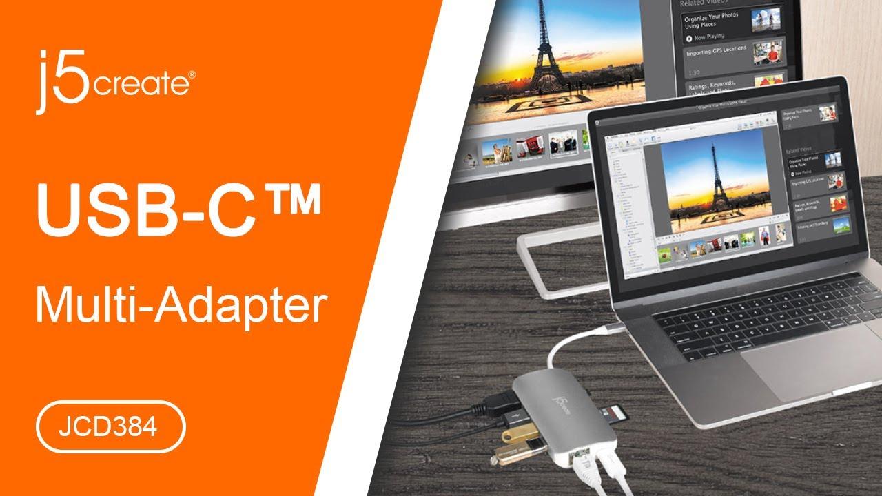 j5create® USB Type-C™ Multi Adapter JCD384