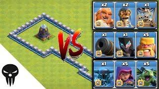 Mega Tesla vs All Troops / Max Mega Tesla vs All Max Troops Coc