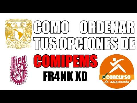 COMO ORDENAR TUS OPCIONES DE COMIPEMS