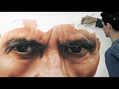 Father – hyper realistic oil painting on canvas – fabiano Millani