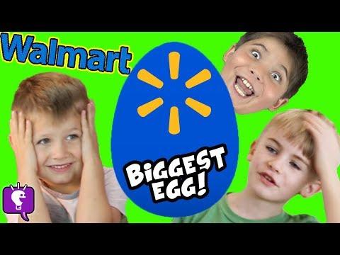 Giant WALMART Egg with New Toy Haul HobbyKidsTV