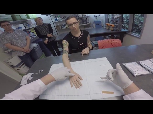 Biohacker Amal Graafstra upgrades volunteers for Tele2 livestream event