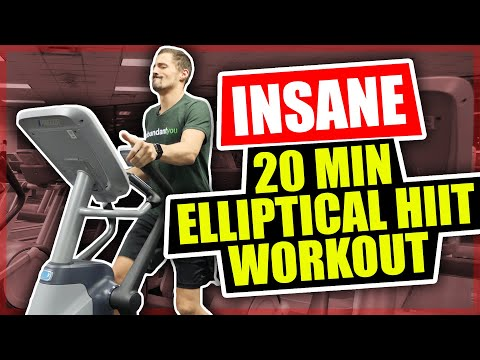 *NEW* Insane 20 Minute Elliptical Workout HIIT Workout