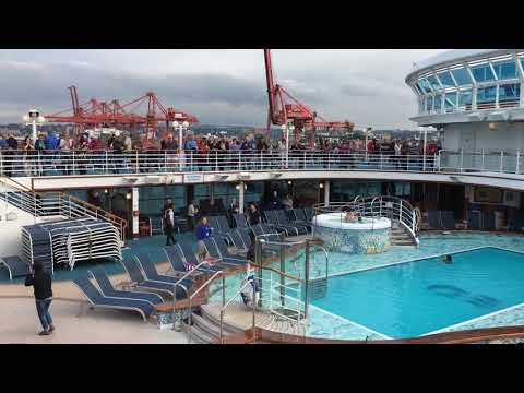 Emerald Princess Cruise Ship September 25, 2017 sailaway from Vancouver, Canada