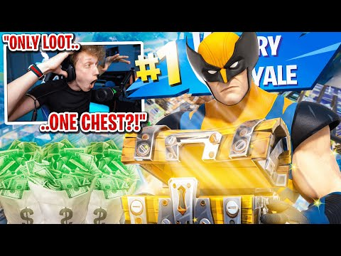 I got 100 FANS to scrim with ONLY ONE CHEST for $100 in Fortnite... (super intense)