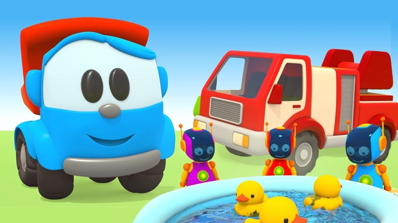 L o le camion curieux dessin anim camion de pompier - Leo le camion pompier ...