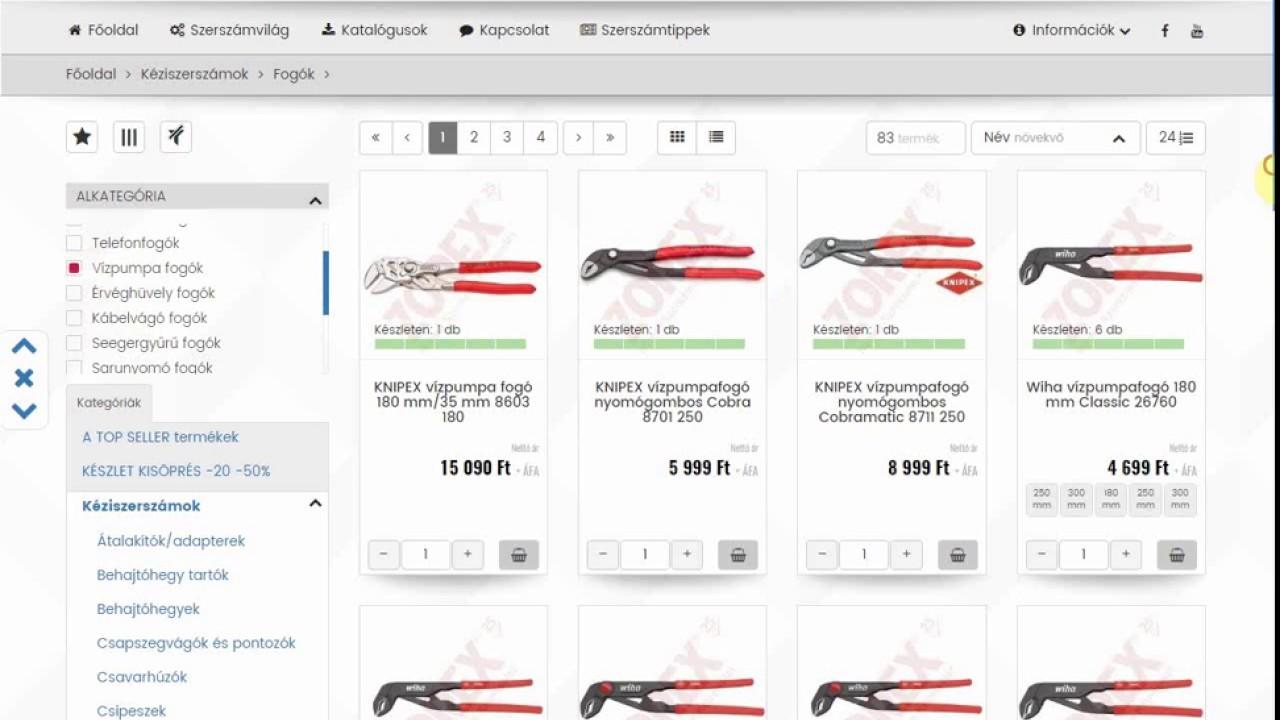 c79e921578 Vásárlási folyamat szűrők használatával Zorex Webshop - YouTube