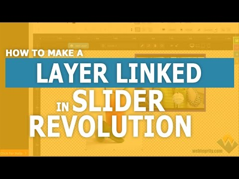 How to Link a Layer in Slider Revolution