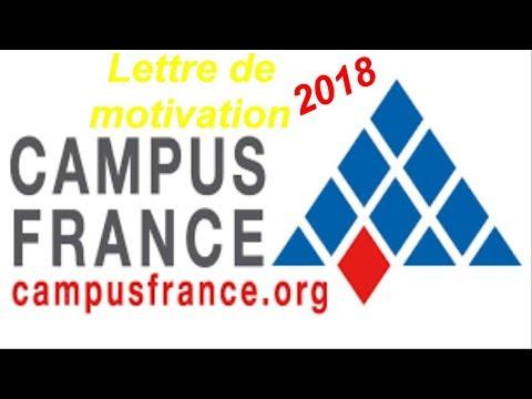 Plan De La Lettre De Motivation Pour Campus France Youtube
