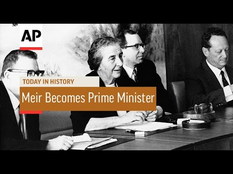 Golda Meir Becomes Israeli Prime Minister - 1969 | Today In History | 17 Mar 17