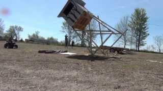 8x8, 1000 LB, 14 FT Tower Deer Stand Raising