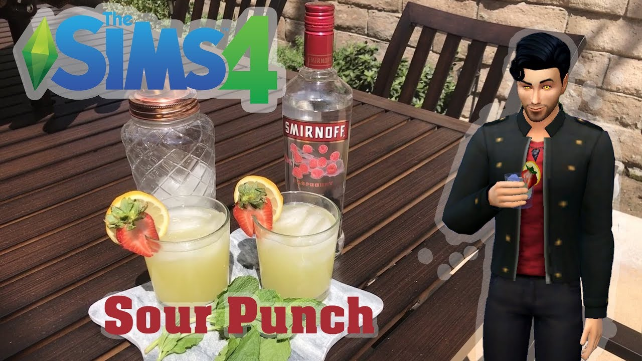 SIMS 4 DRINKS IN REAL LIFE - SOUR PUNCH RECIPE