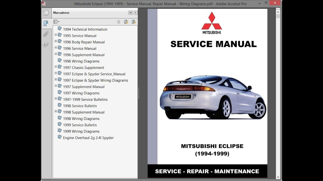 Mitsubishi Eclipse (1994-1999) - Service Manual / Repair Manual - Wiring  Diagrams - YouTube | 1998 Mitsubishi Eclipse Spyder Wiring Diagram Free Picture |  | YouTube