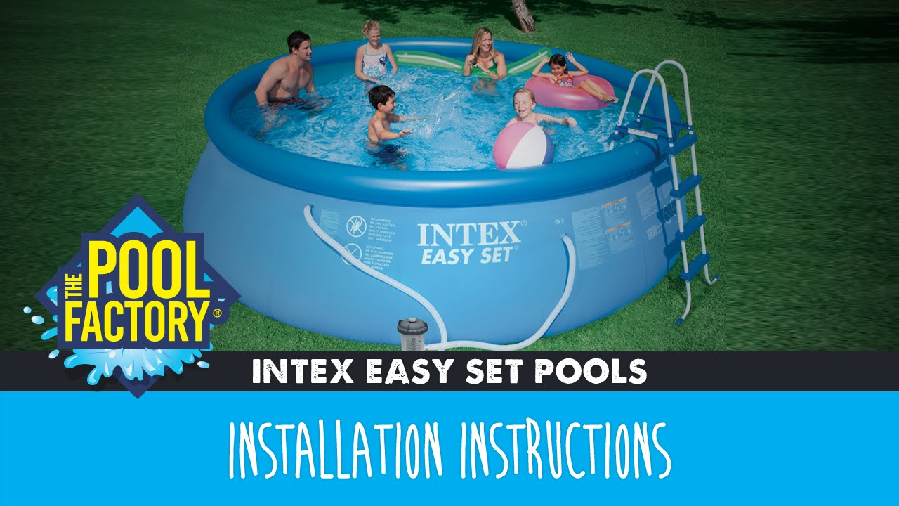 Intex Easy Set Pools Instructions Youtube
