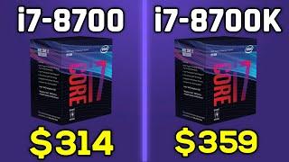 i7-8700 vs i7-8700K - Comparison w/ GTX 1080