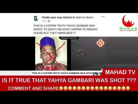 Download IS IT TRUE THAT YAHYA GAMBARI WAS SHOT ???