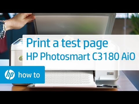 Printing A Test Page | HP Photosmart C3180 All-in-One Printer | HP