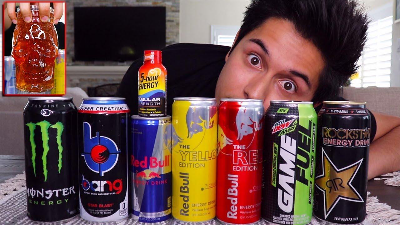 ASMR on Every Energy Drink!   HYPER TINGLES! (pray for me)