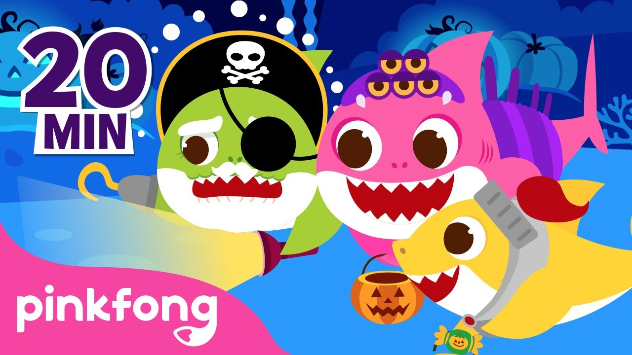 Trick or Treat with Baby Shark  🎃👻🍬  | Go Away Monster and more | Halloween Pinkfong Songs for Kids