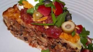7 Layer Chicken Taco Impossible Pie Recipe