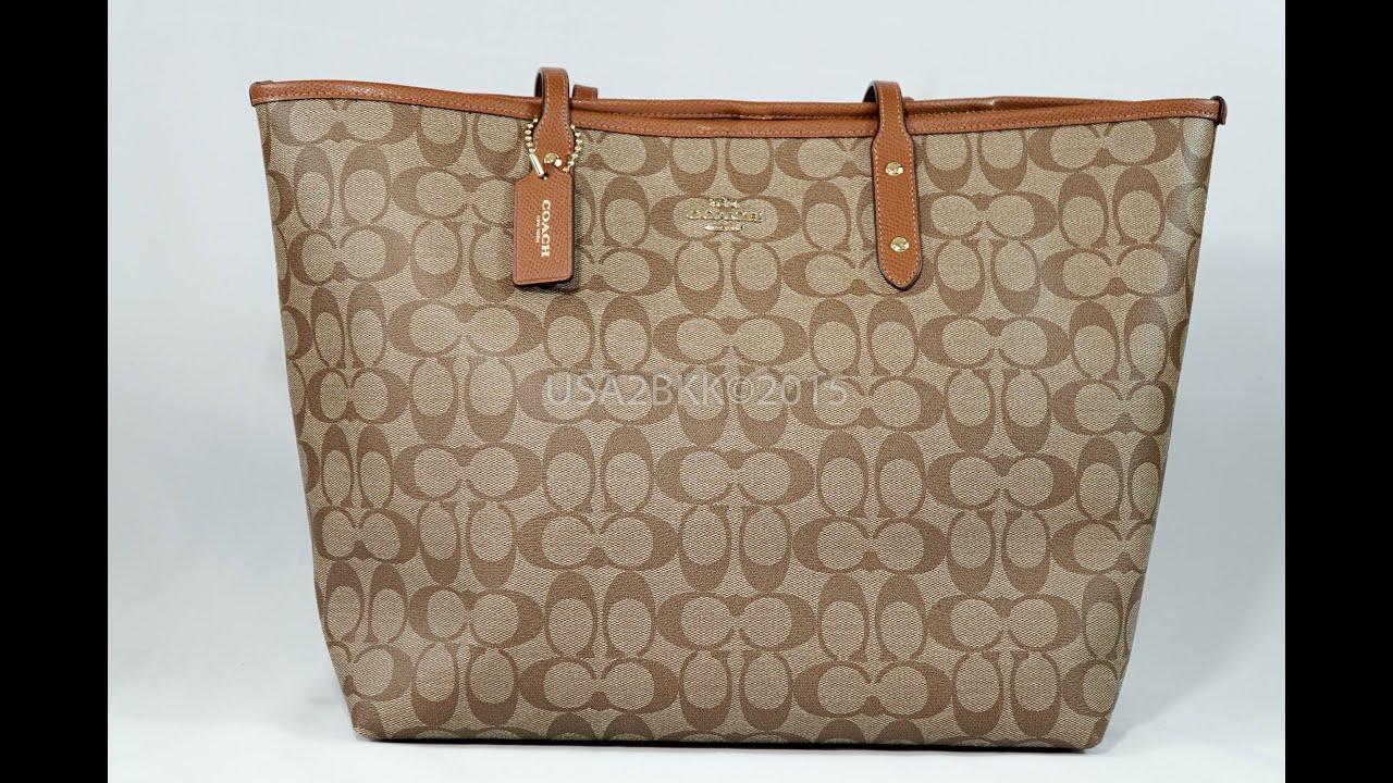 จำหน่าย กระเป๋า Coach Signature Large City Women's Tote Handbag Bag F36126  by usa2bkk - YouTube