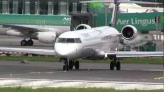 Eurowings Canadair CL-600-2D24 Regional Jet CRJ-900LR Take off Dublin (FULL HD)