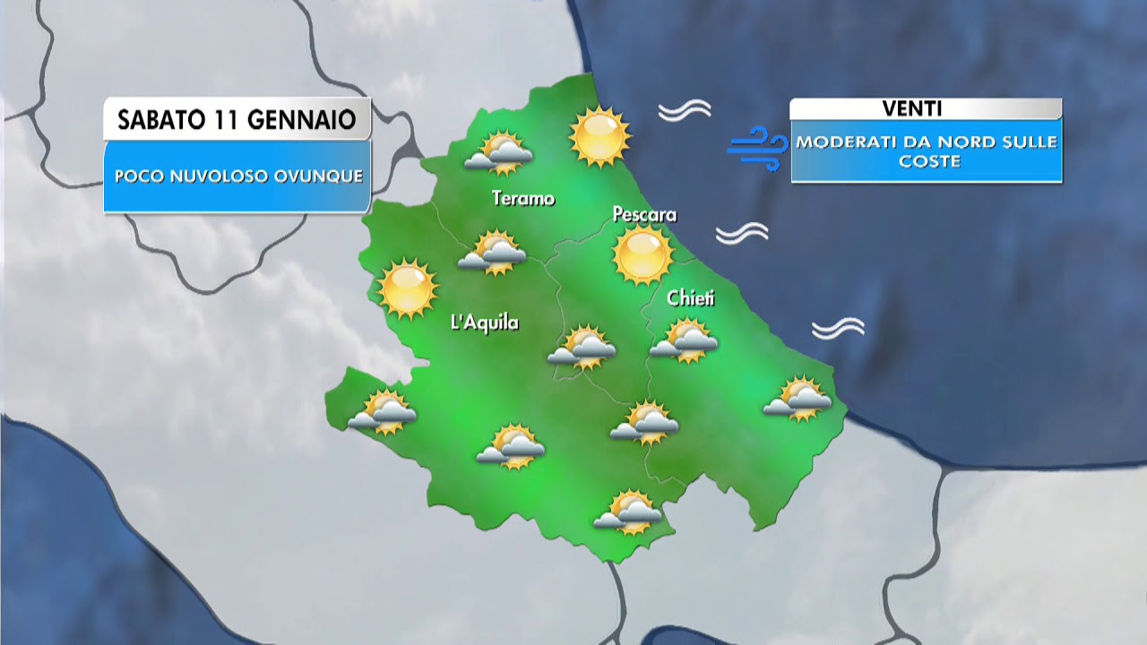 Il Meteo - Abruzzo | Previsioni per sabato 11 gennaio ...