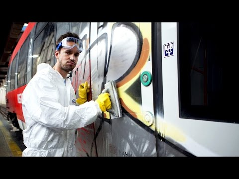 DB-Challenge - Graffiti-Reinigung im DB Regio-Werk Berlin-Lichtenberg