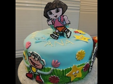 Dora The Explorer Themed Birthday Cake by DJVJ YouTube