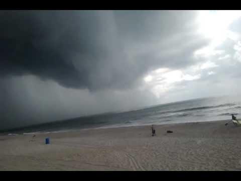 Carolina Beach Water Spout reaches shore- up close - YouTube
